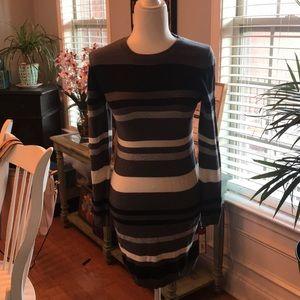 Merona grey/black/white sweater dress